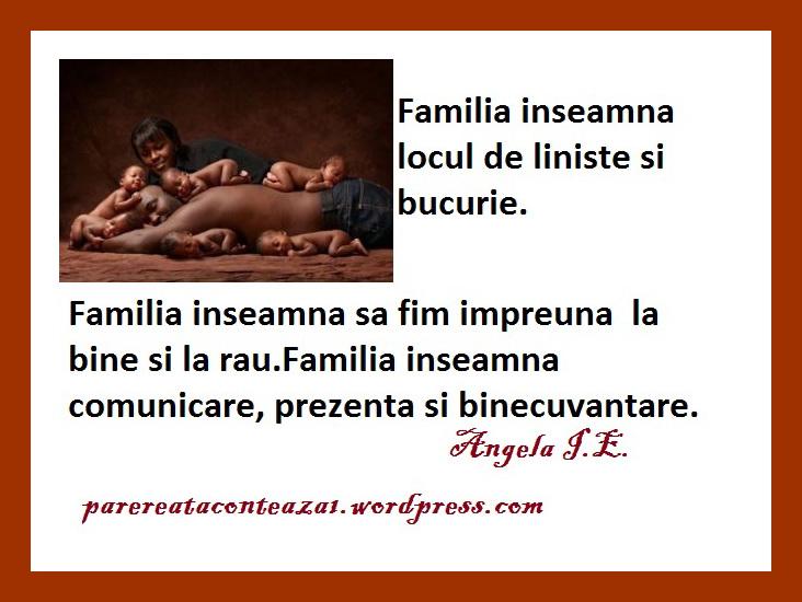 Citaten Familie : By insula ekklesia un pentru tine ri